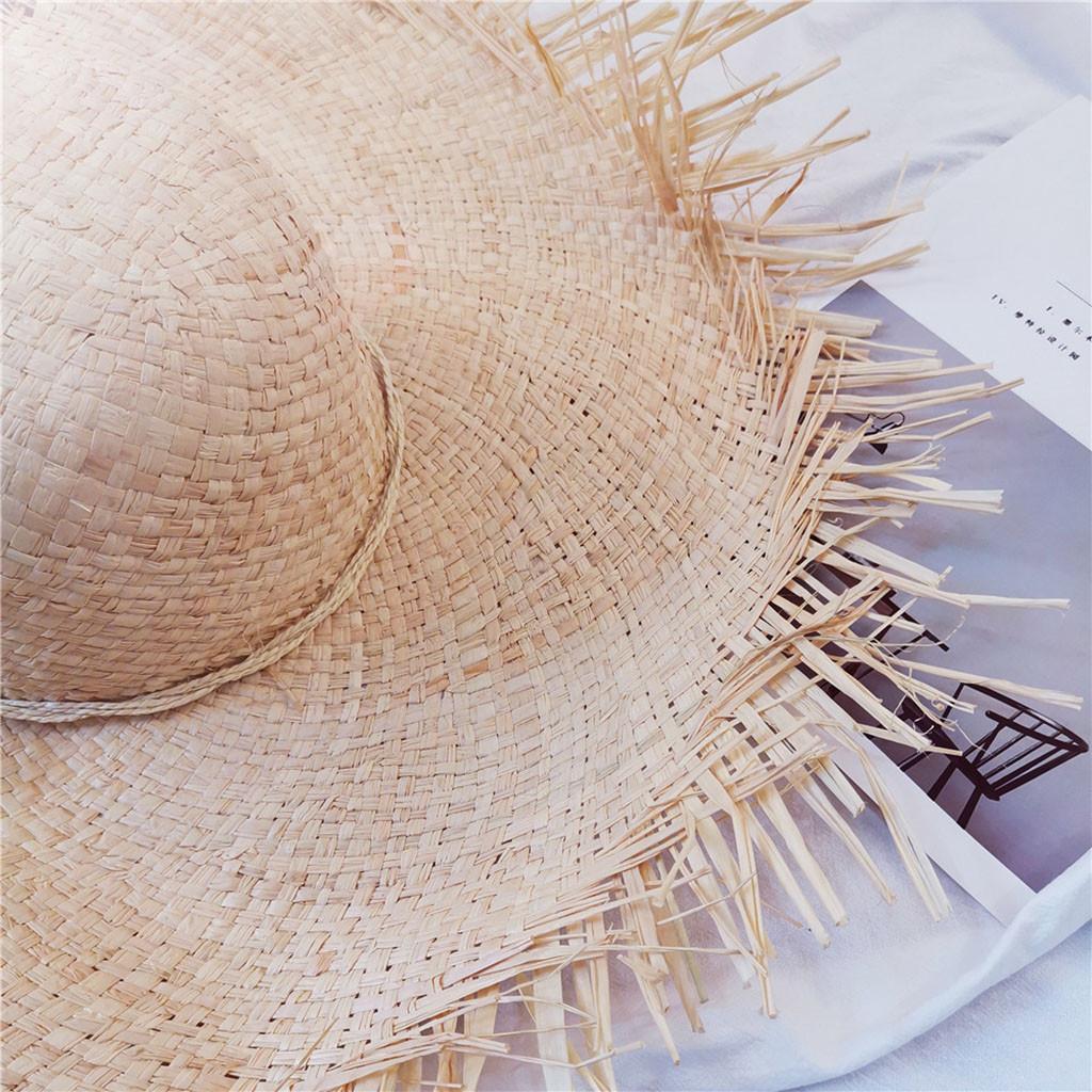 Playa Sombreros de Sol de Doble ala Grande UPF 50+ con protecci/ón UV para Mujeres LassZone Sombrero de ala Ancha Desmontable Plegable para Verano
