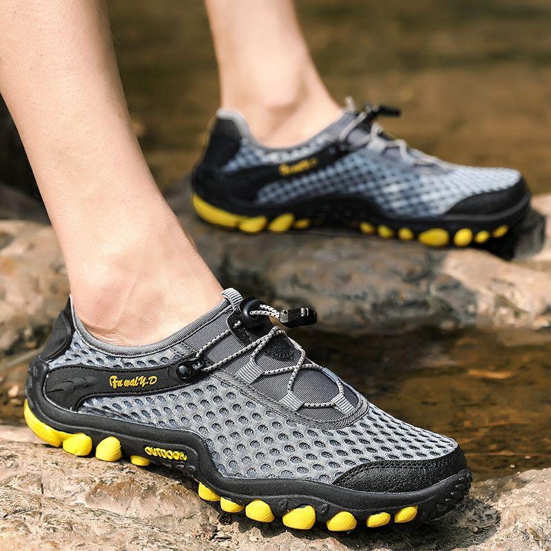 summer Hiking Shoes Men Outdoor Trekking Shoes Woman Anti-Skid Rock Climbing Sports Tracking Outventure Mountain