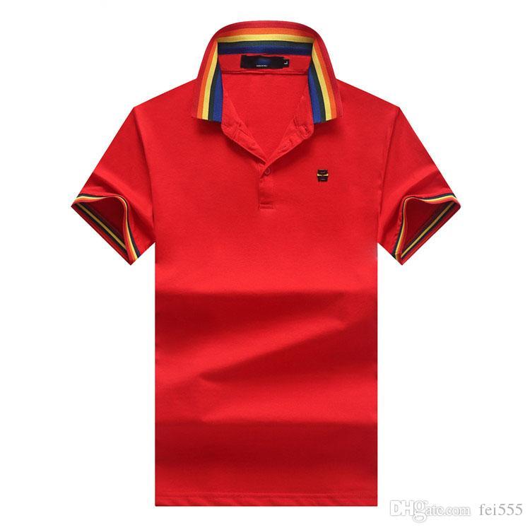 Nuevas camisetas de diseñador para hombre a rayas moda patchwork turn down collar polos de diseño para hombres verano casual hombres polos