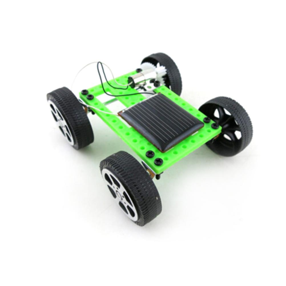 toyzhijia mini solar powered toy diy car kit children educational gadget hobby funny new hot baby play