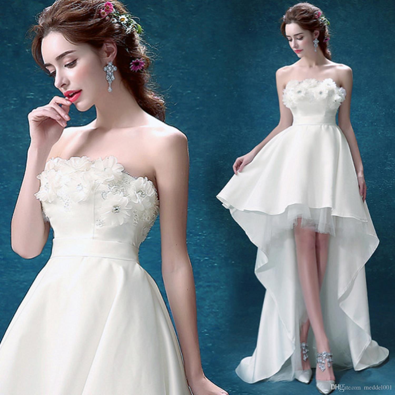 2019 Moda Branca Flor Off The Shoulder Applique Lace Up Vestido de Noiva vestidos de casamento Professional personalizado