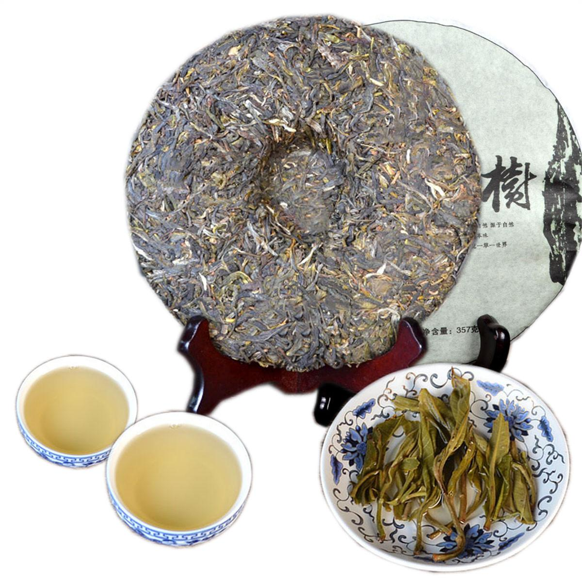 Preference 357g Yunnan Yiwu Alter Baum Puer Tee-Kuchen roher Puer Tee Organischer natürliche Pu'er älteste Baum-Grün Puer Tea Factory Direct Sales