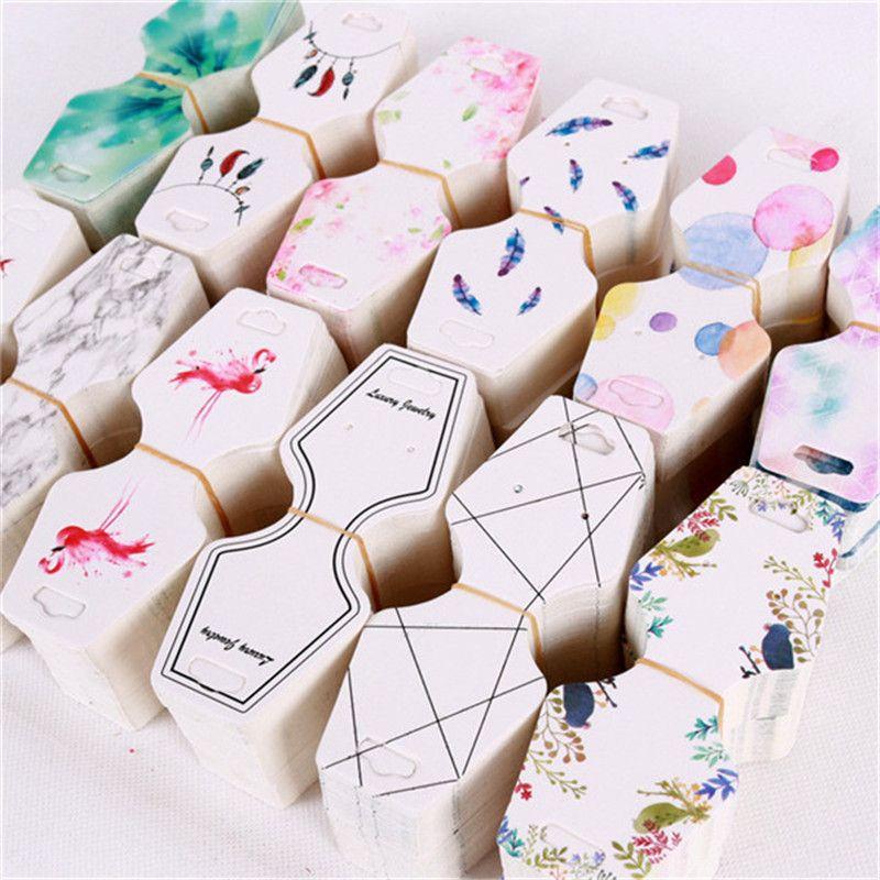 etiquetas de 12 x 5 cm joyas joyas tarjetas colgantes pulseras 100 tarjetas de exhibici/ón de collares en blanco para collares tarjetas plegables para collares