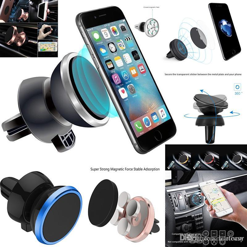 New 360 Rotating Magnetic Mount Car Air Vent Mobile Phone Holder Stand GPS Sat TH0253