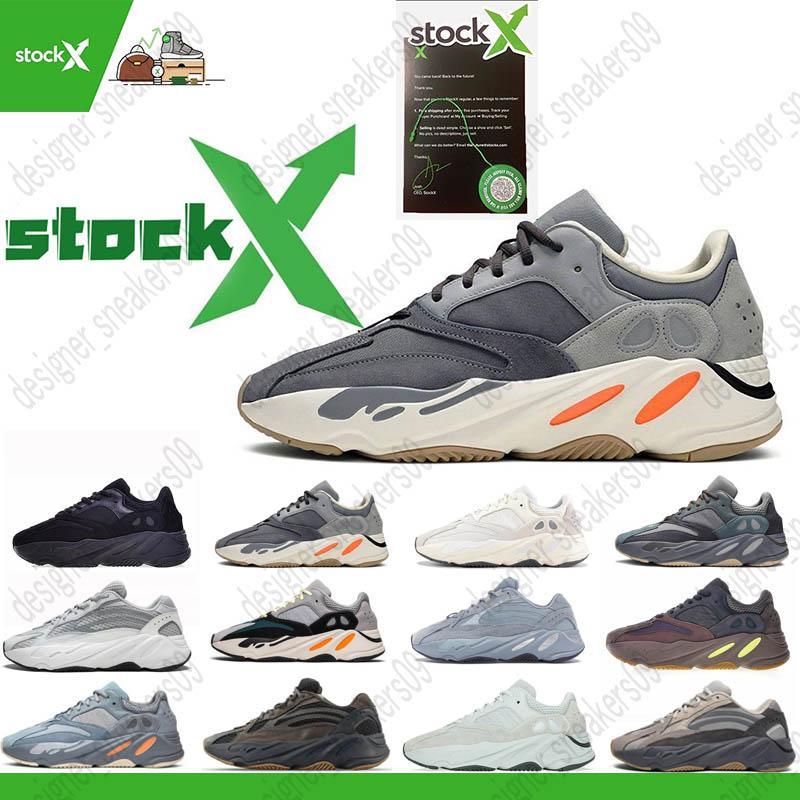 2020 Kanye 700 tênis para homens corredor da onda Azael Alvah carbono Utility Blue Black Inertia Ímã das sapatilhas dos homens de esportes treinador de moda