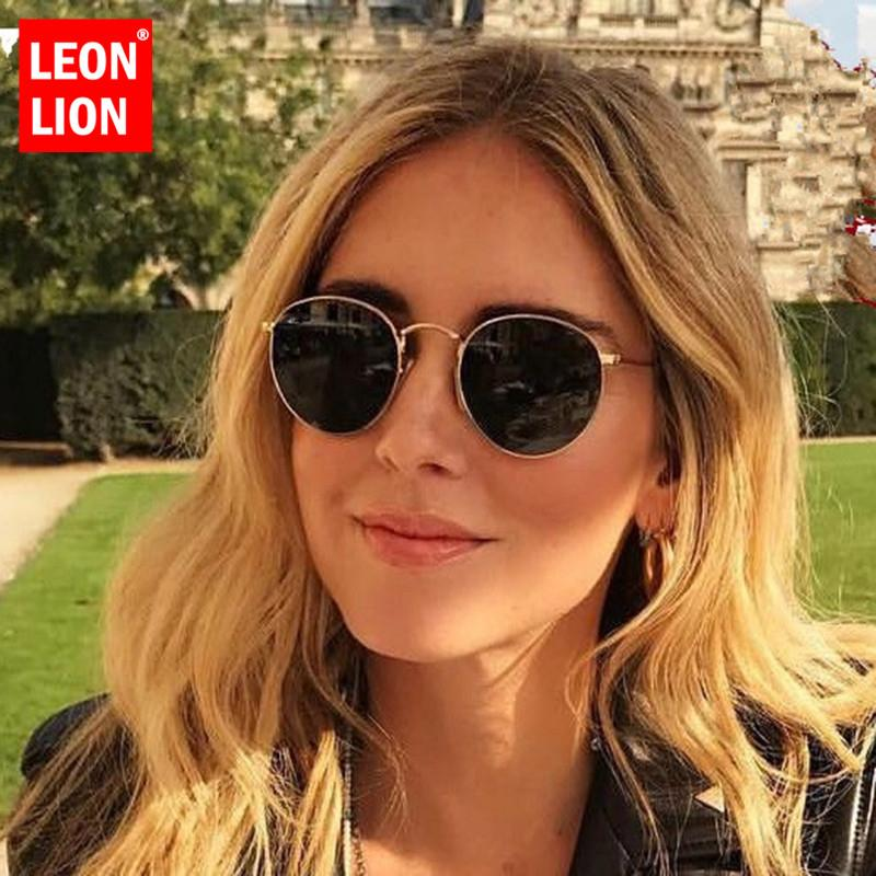2019 metall runde spiegel sonnenbrille frauen ozean objektiv klassische einkaufsbrille markendesigner oculos de sol feminino