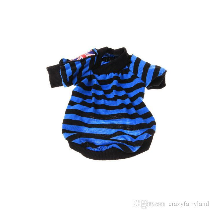 Pet Puppy Summer Striped Tshirt Small Dog Clothing Cotton T Shirt Apparel Clothes For Dog Shirt Dog Clothes Products Vest