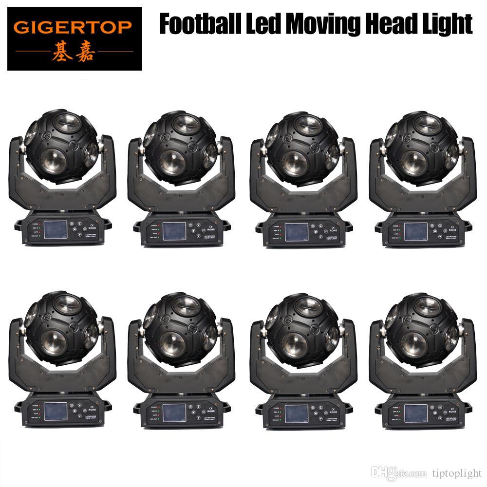 Tiptop 8 ADET 12x20 W RGBW 4in1 LED Futbol Hareketli Kafa Işık Harika Gösterisi Efekti DJ Disko Gece Kulübü Parti Işık DMX 512 21CH