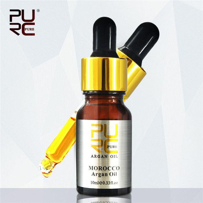 PURC 10ML Марокканский Чистый натуральный Арган Уход за волосами Эфирное масло для ремонта Лечение Поврежденные Фризза Сухие волосы 6 шт.