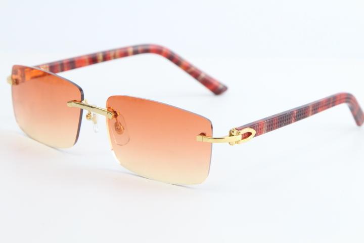 판매 새로운 패션 무테 대리석 레드는 판자 선글라스 8200757 패션 고품질 브랜드 썬은 남성과 여성의 안경 광장 안경 격자 무늬