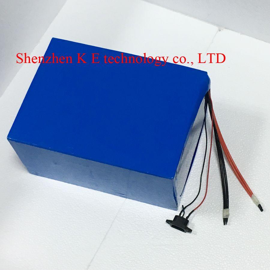 Große elektrische Fahrradbatterie 96v 20Ah Samsung Zellen Lithium-Ionen für 1000w 1500w 2000w 3000w Motor e-Roller Kit + Ladegerät