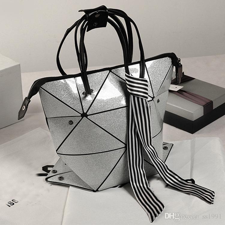 Lucky2019 Geometria Saco A Laser Magia Cubo De Diamante Pacote Mão Bill De Embarque Ombro