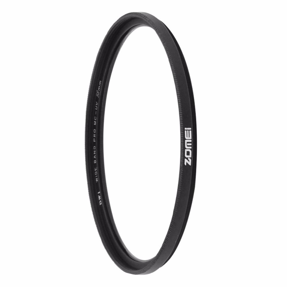 Freeshipping Ultra-thin MCUV Filter Multi-coated Optical Glass 49/52/55/58/62/67/72/77MM Waterproof UV Filters For Camera Lens