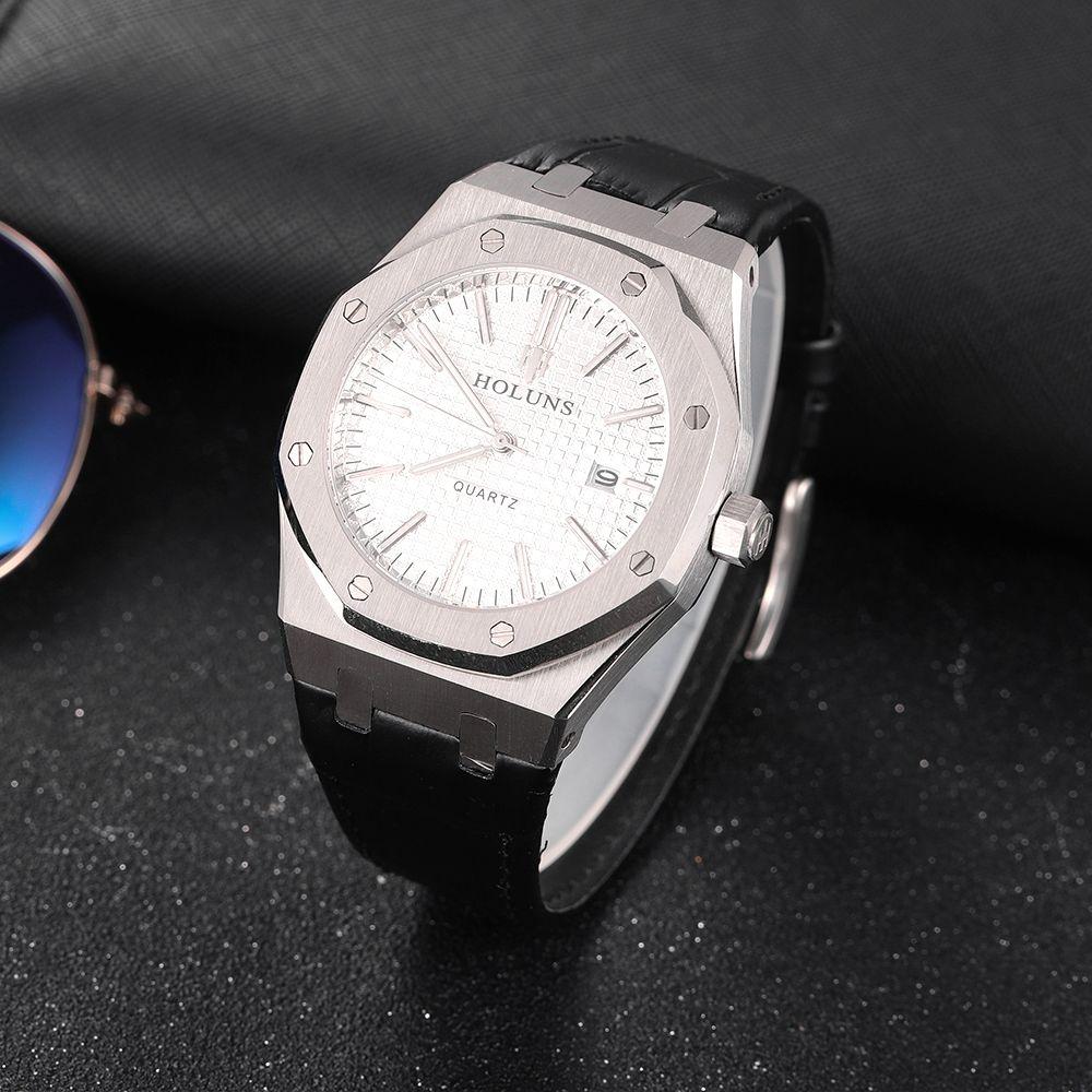 mens orologi di lusso giapponese movimento al quarzo stile classico cinturino in custodia in pelle in acciaio inox profonda impermeabile montre de luxe BRW
