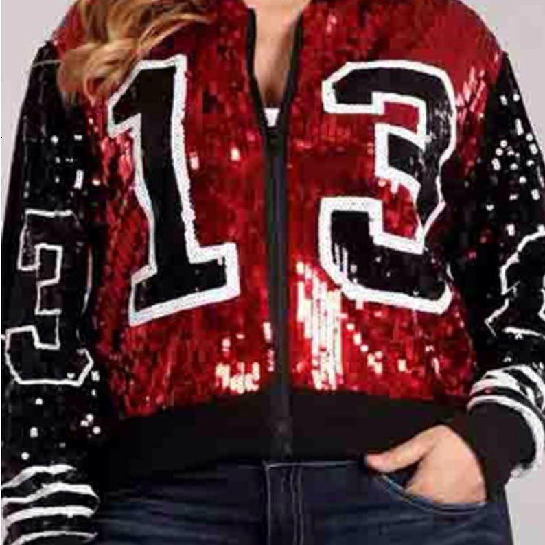 Греческие моды леди пальто 13 стрит блестки застегивать длинный рукав спортивных летучих рукавов Sorority jacketsMX190930