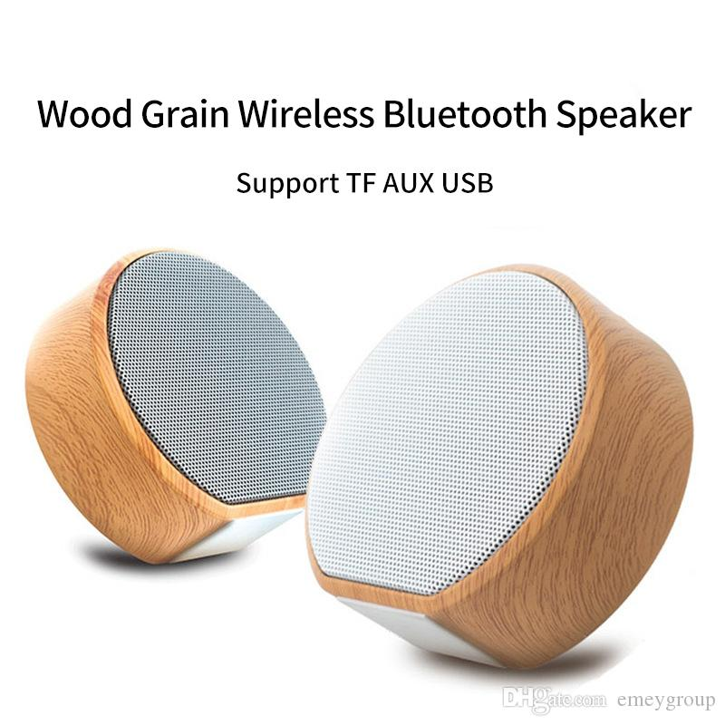 Wood Grain Wireless Bluetooth Speaker Portable Mini Subwoofer Audio Gift Stereo Loudspeaker Sound System Support TF AUX USB A60