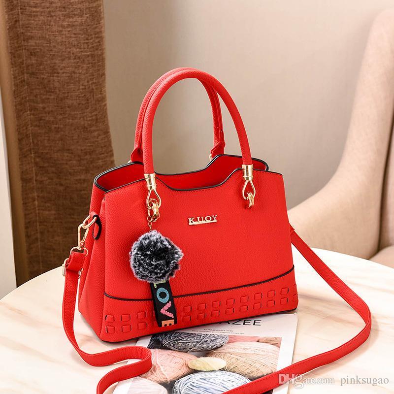 Pink sugao designer handbags women luxury crossbody handbags 2018 new fashion shoulder handbag high quality messenger bag factory outset bag