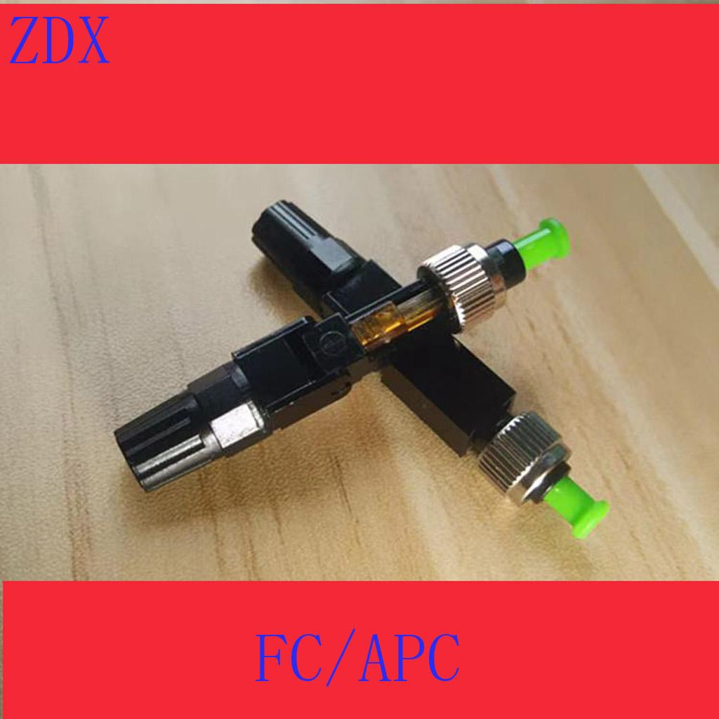 Embedded FC APC Fiber Optic Fast Connector FTTH single mode fiber optic SC quick connector green adapter Field Assembly