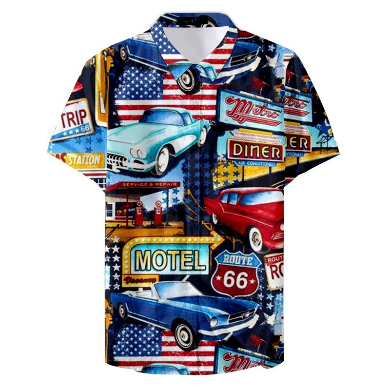 2019 Klassik nicht leicht zu verblassen Individuelle Comic Sedan Auto Männer Casual Shirts CX200619