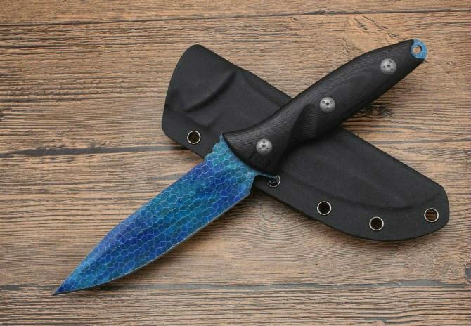 Sello Elite 5.5inch D2 G10 mango del cuchillo cuchillo de hoja fija recta Herramientas regalo de Navidad a1909 Adker supervivencia que acampa al aire libre del regalo del cuchillo