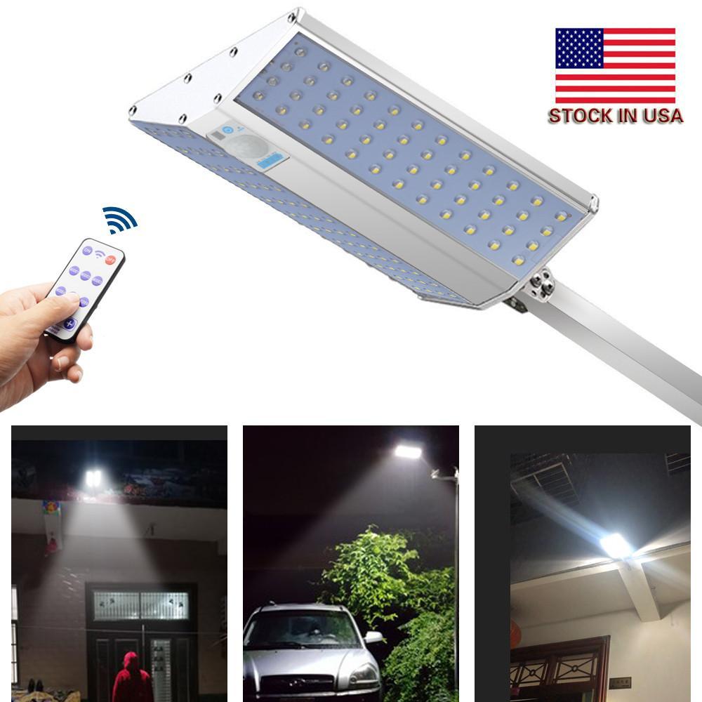 96LED solaire Détecteur de mouvement extérieur étanche lumière grand angle d'éclairage à distance gradables 10W 1500Lumen jardin lampe lumières mur