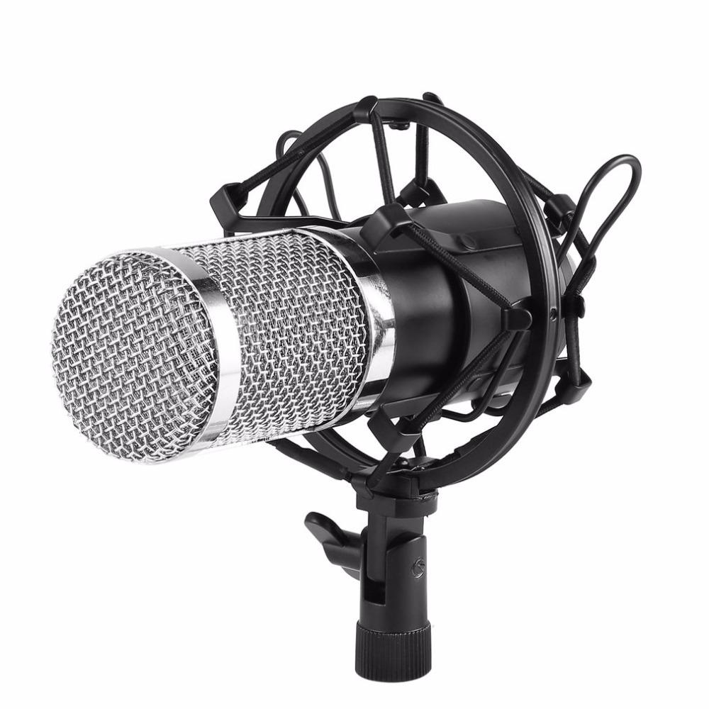 Suspensión ajustable ajustable de cabeza redonda profesional del micrófono del estudio Soporte del brazo de tijera con montaje de choque y kit de abrazadera de montaje