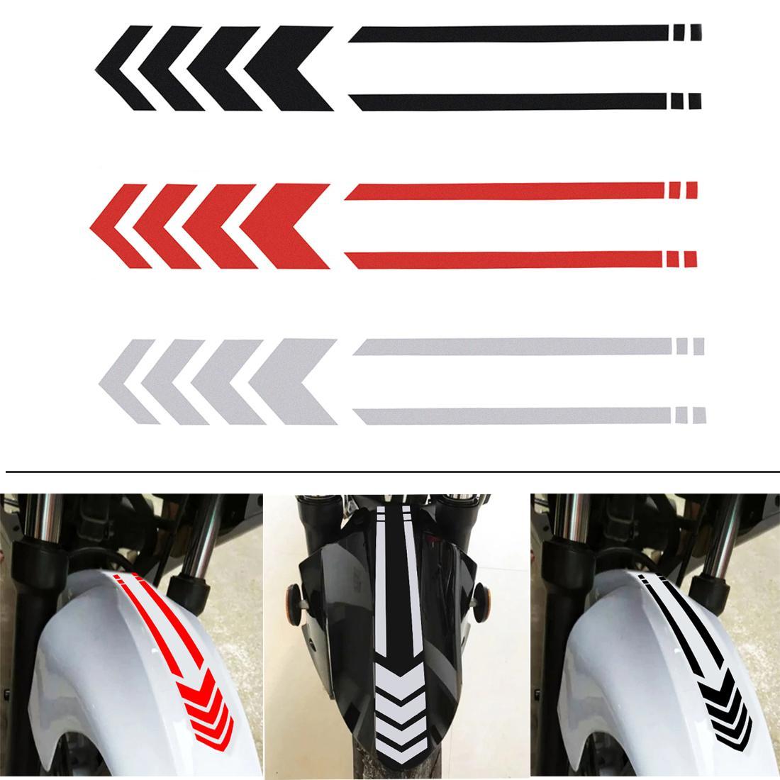 3 Renk 34 x 5.5 cm Evrensel PET Yansıtıcı Bant Motosiklet Vücut Modifikasyon Çamurluk şerit Çıkartma CEA_32M