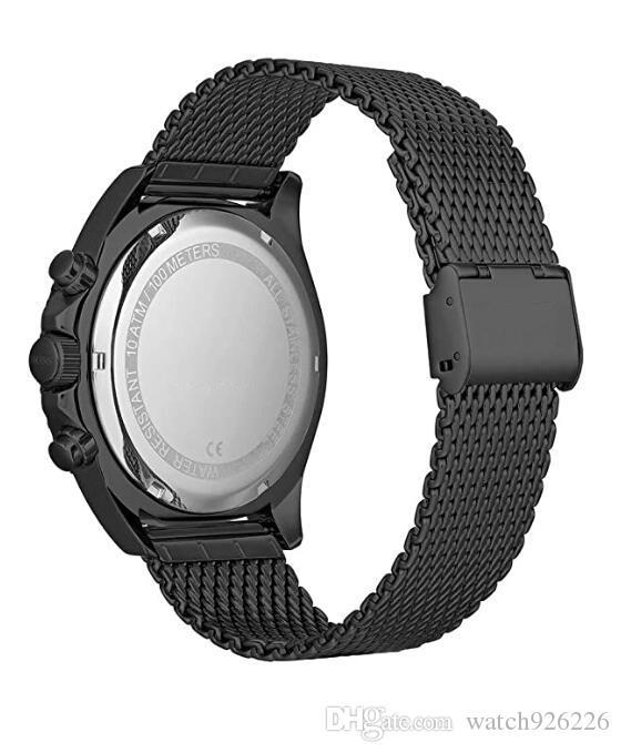 Mens d'acier quartz 1513702 Sangle de modèle Nouvelle montre en acier inoxydable Chronographe avec XASAJ