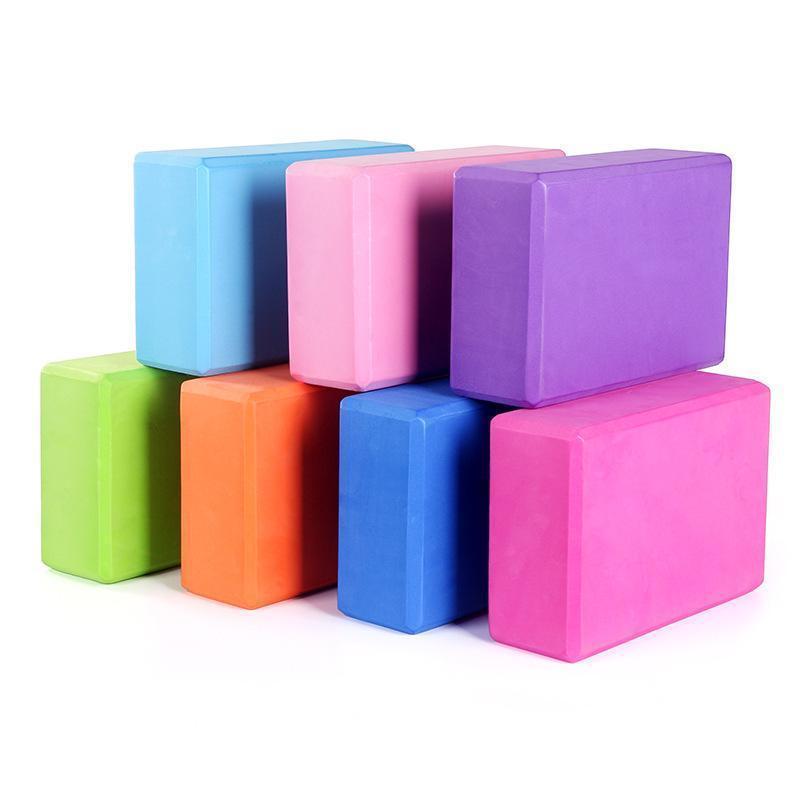 ABD Stok Gym Ev Fitnes Egzersiz EVA Yoga Blokları Tuğlalar Yüksek Yoğunluklu Köpük Köpük İçin Spor Vücut Geliştirme kullanın FY6038