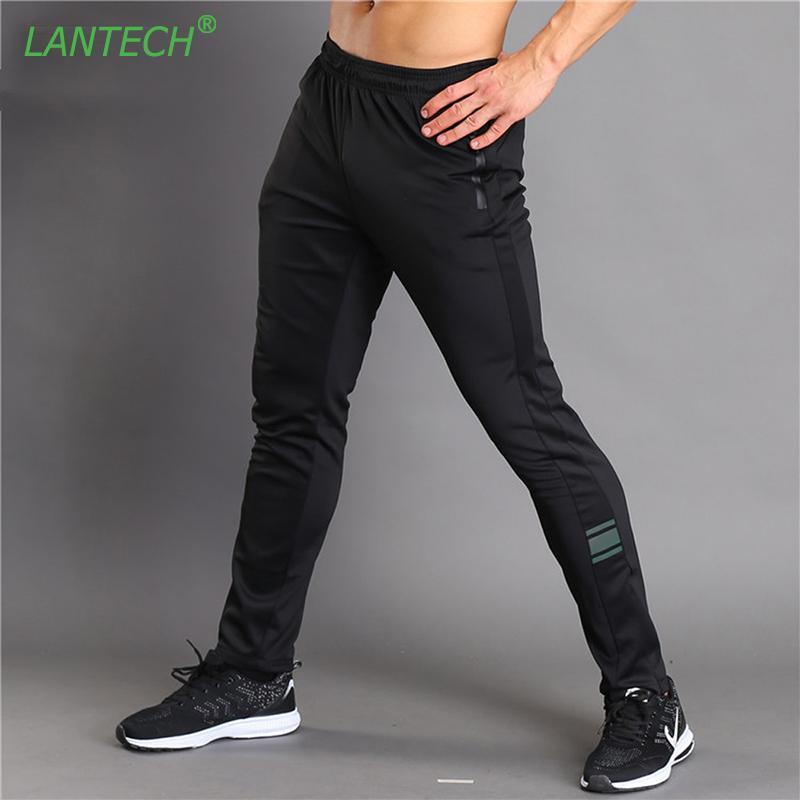 Run Koşucular Eğitimi Spor Spor Spor Egzersiz Salonu Elastik Pantolon Pocket Giyim Fermuar Running LANTECH Erkekler Pantolon