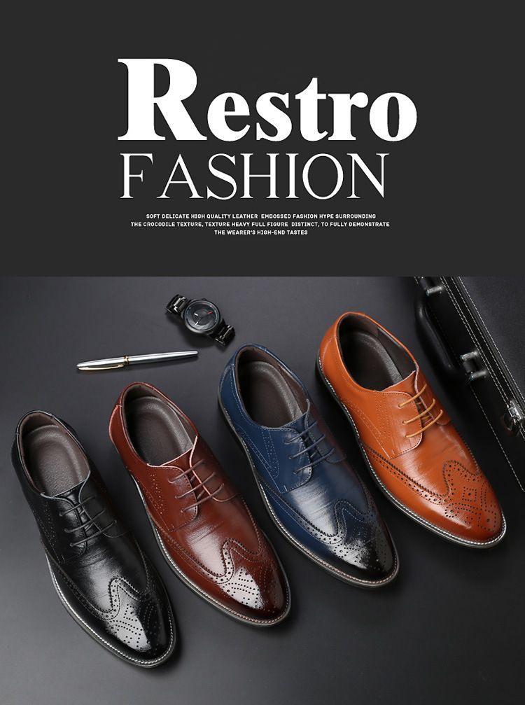 Hot Sale Mens Leather Dress Shoes Men