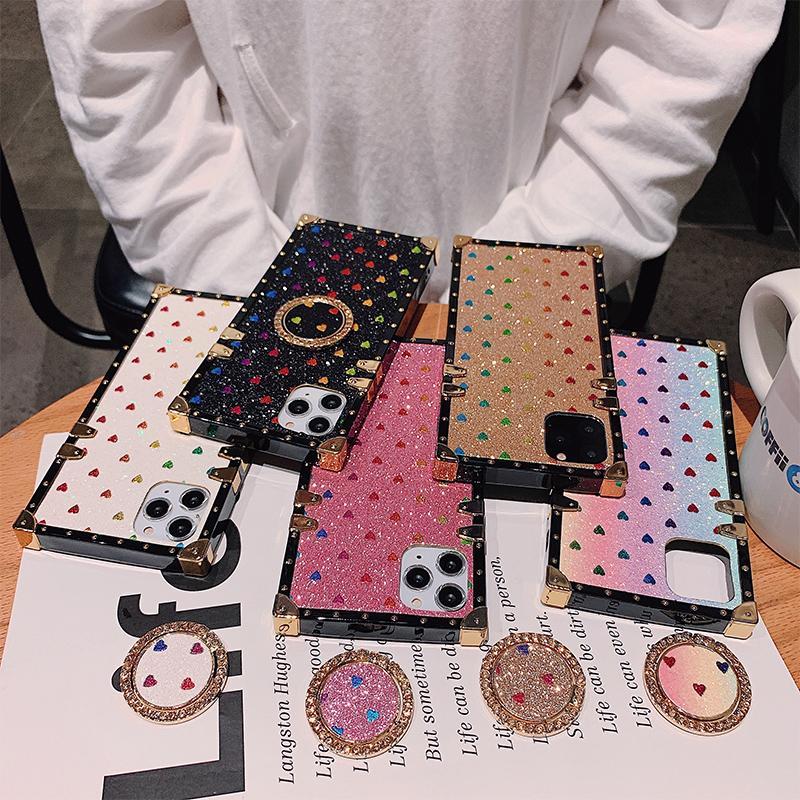 Stilista di moda della cassa del telefono per IPhone 11 X XS MAX XR 8 casi cellulare copertina in pelle 7 Marca PU per la galassia S20 S10 Nota 10 Cavalletto shell