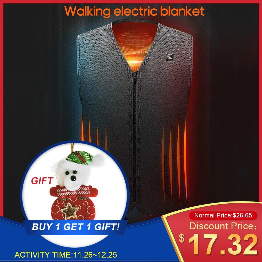 Hiking Vests Outdoor Heated Jacket Heating Vest Hiking Clothing USB Charging Intelligent Electric Heated Vest Heating Clothes Submersible