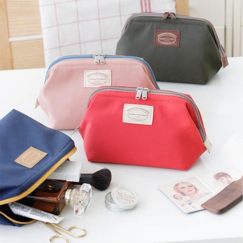 Coreia do armazenamento cosméticos saco impermeável Nylon saco de armazenamento Em WC portátil de viagens com