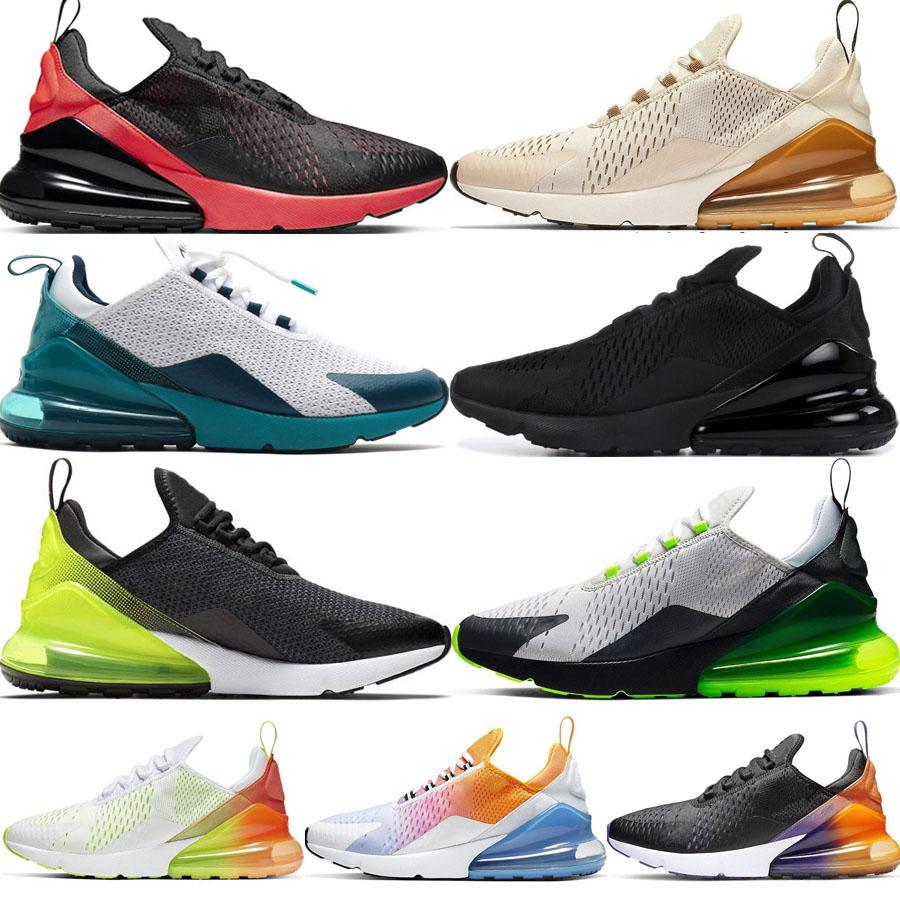 2019 Nuevo 270Hombres Mujeres Zapatos para correr Tiger Triple Black White Road Star BHM Iron Designer Trainers Sport Sneakers 36-45