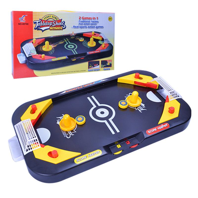Mini-Explosive 2in 1 Hockey Table-to-Table Competitive Games Mini-Hockey Table Interactive Children's Puzzle Toys Gift