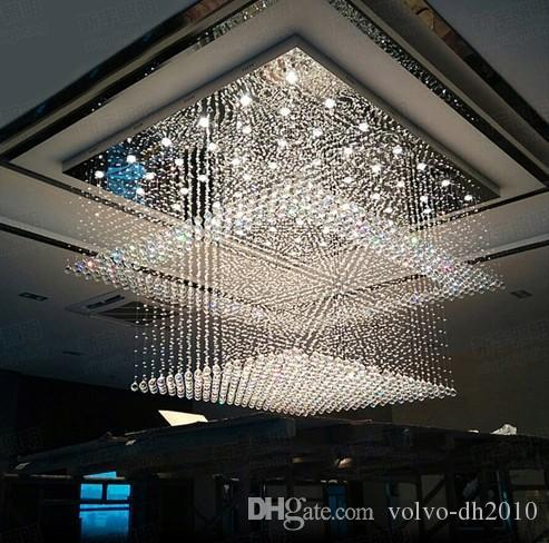 Modern Yaratıcı High-end Büyük Kristal Çatı Aydınlatma Villa Alışveriş Merkezi Otel Yüksek Kulübü Mühendislik Aydınlatma LLFA
