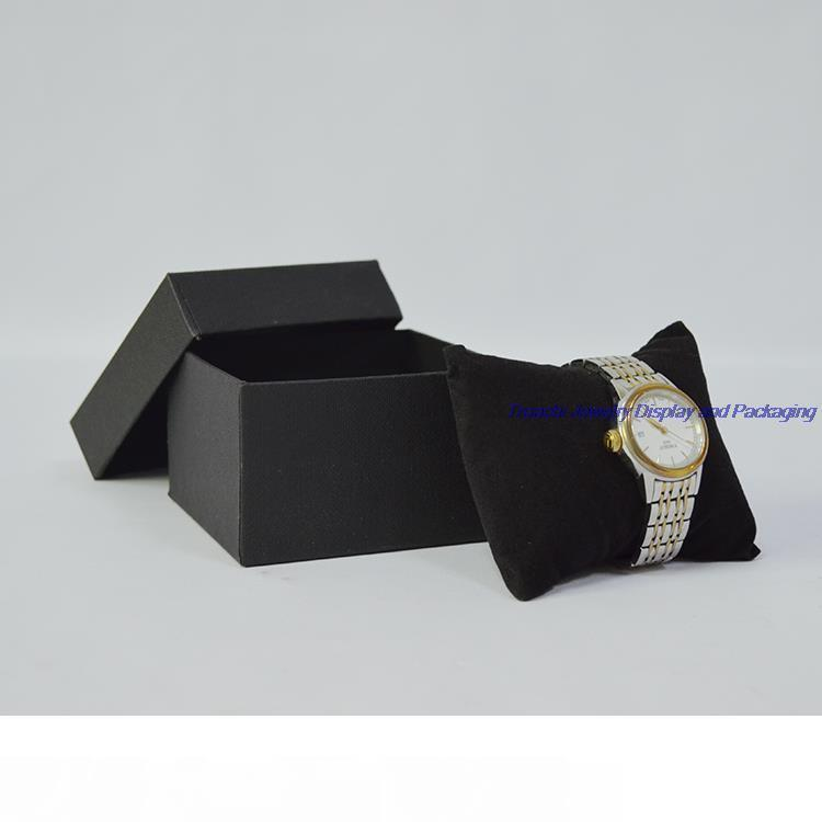 5pcs Jewelry Boxes and Packaging Gift Watch Storage Box with Black Velvet Cushion Pillow Bracelet Display Holder Free shipping