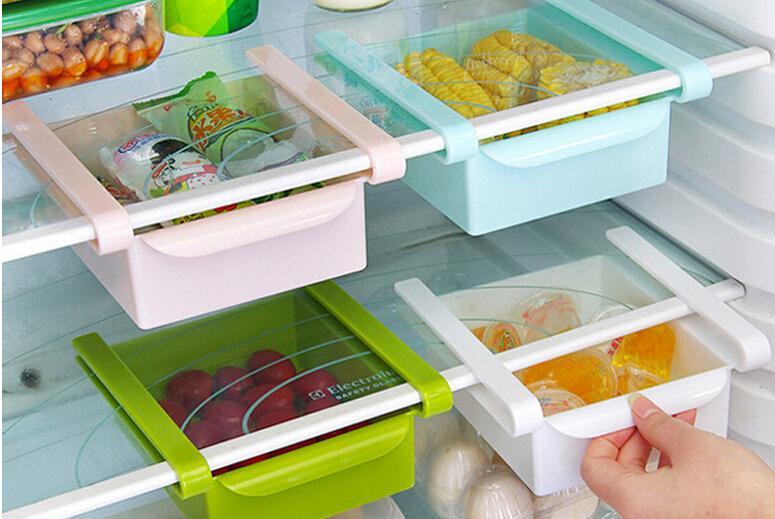 küchenregale küche kühlschrank lagerregal kühlschrank gefrierschrank regal halter ausziehbare schublade organizer space saver box lagerung halter
