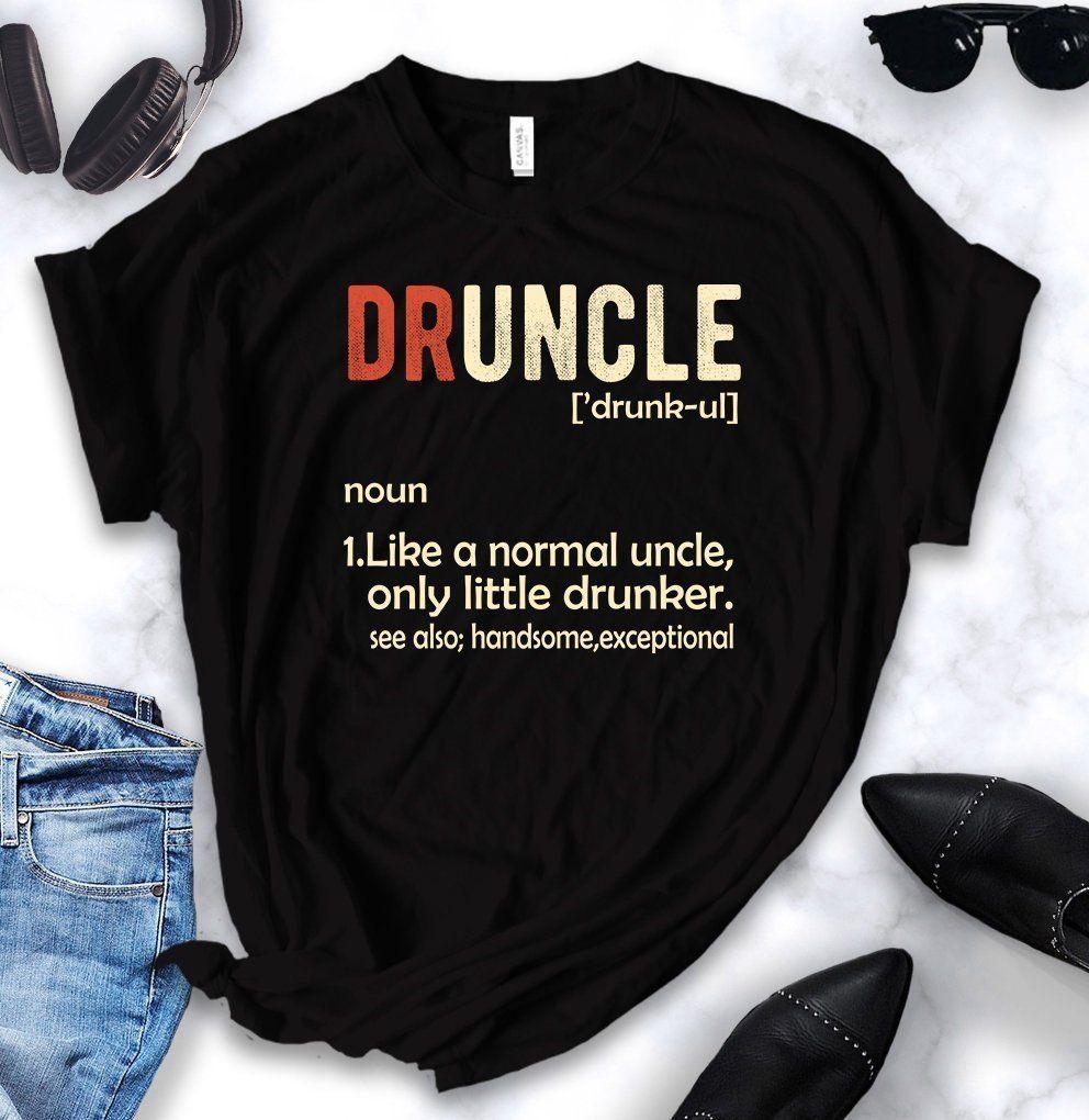 DrUncle Just Like a Normal Uncle just Drunker BL47 Black Unisex T-Shirt