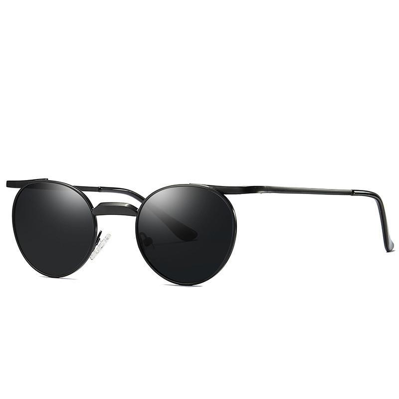 Cubojue Small Round Mens Sunglasses Polarized Black Women Mirrored Sun Glasses For Man Driving Female Reflective Punk Vintage Wiley X Sunglasses