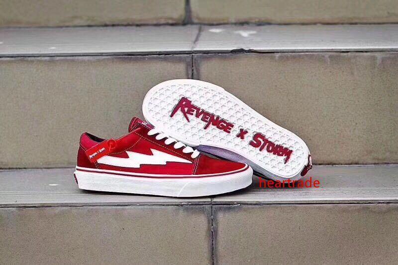 Hot REVENGE x STORM Herren Schuhe Skateboard-Schuhe Old Skool Kanye Low 3colors Art und Weise der Frauen Freizeitschuhe Eur 36-44