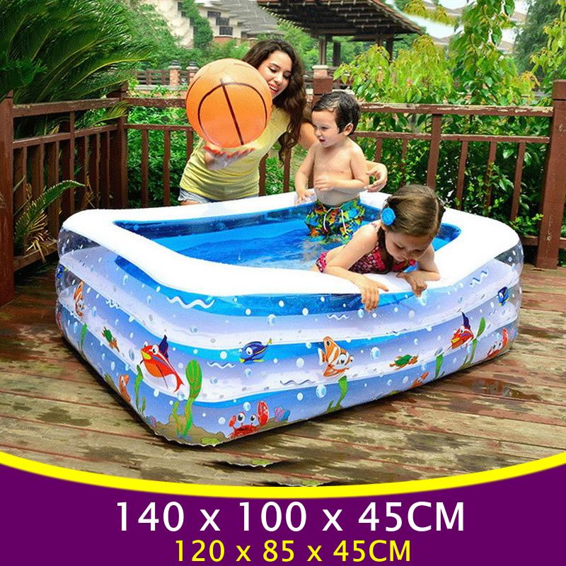 2019 Large Square Baby Swimming Pool For Kids Inflatable Pool Plastic  Swimming Pools Inflatable Baby Kids Bathtub YP02 From Beachsandy, $69.87 |  ...