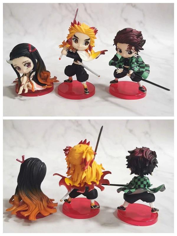 Kimetsu Kein Yaiba Dämonentöter Japan Anime Rengoku Kyoujurou Kamado Tanjirou Kamado Nezuko Cartoon Abbildung 6-8cm