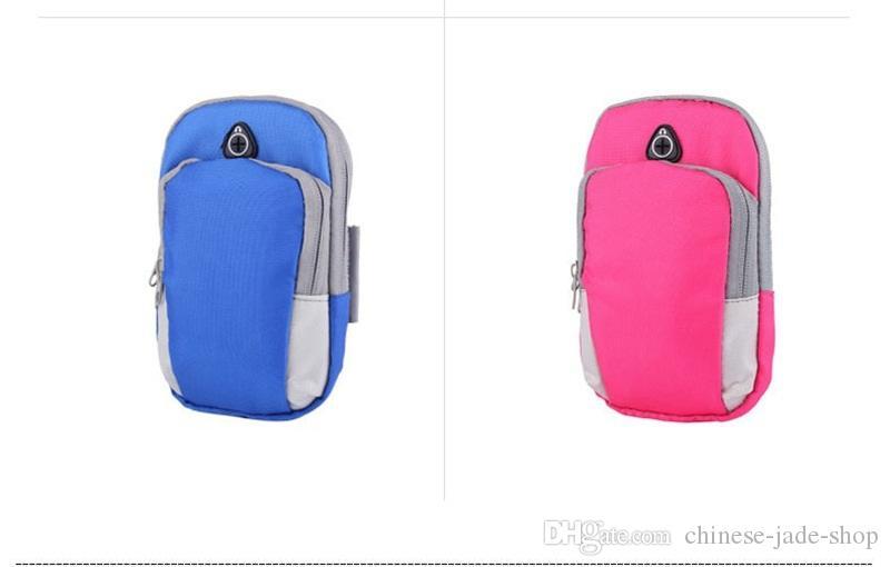 스포츠 완장 케이스 커버 실행 조깅 팔 밴드 파우치 홀더 가방에 대 한 4-6 인치 유니버설 iphone X XS 최대 스마트 폰 50PCS / LOT