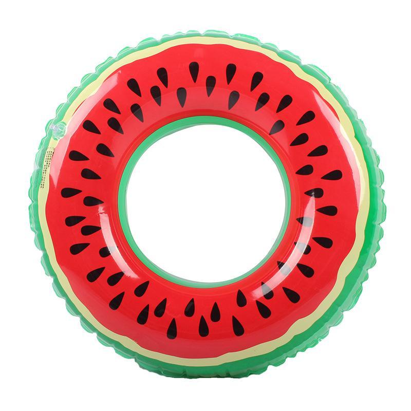 60/70/80 / 90 cm Crianças adultos salva-vidas de natação anéis infláveis brinquedos de vida bóia melancia laranja impresso
