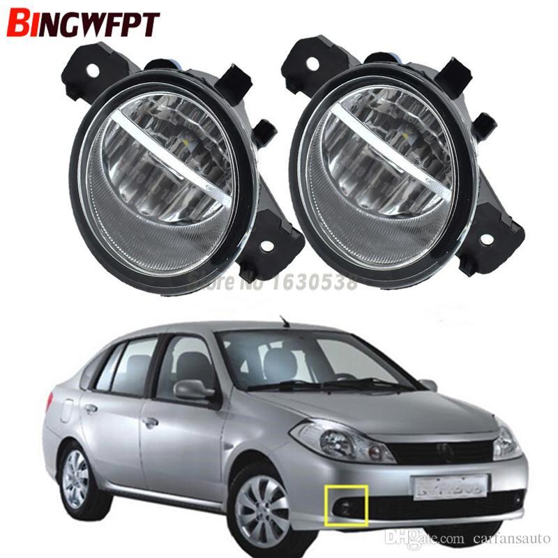 2pcs (Left + Right) Auto Front bumper LED Fog Light For Renault SYMBOL (LB0/1/2_) Saloon CLIO VEL THALIA MODUS Hatchback 1998-