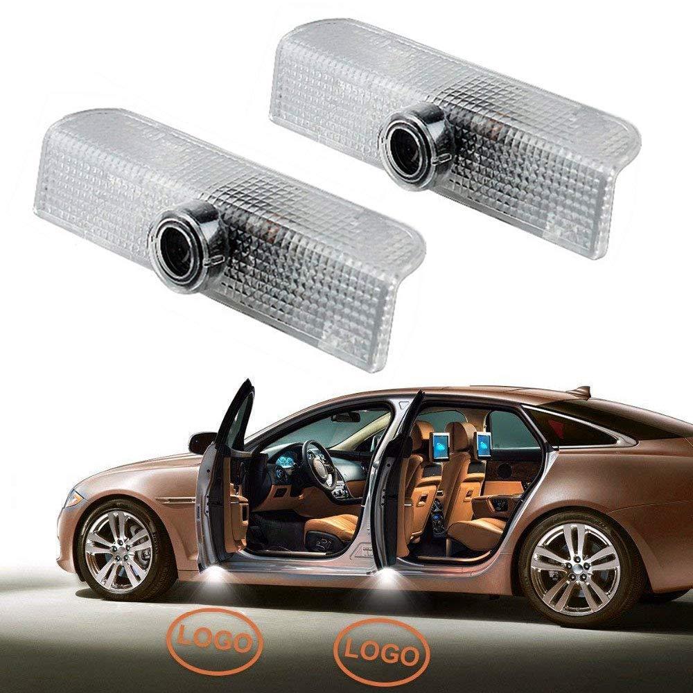 2pcs Fit pour la voiture Nissan LED Light porte Laser Projecteur Lumière Bienvenue Ombre Light Car Logo Kit Ampoule