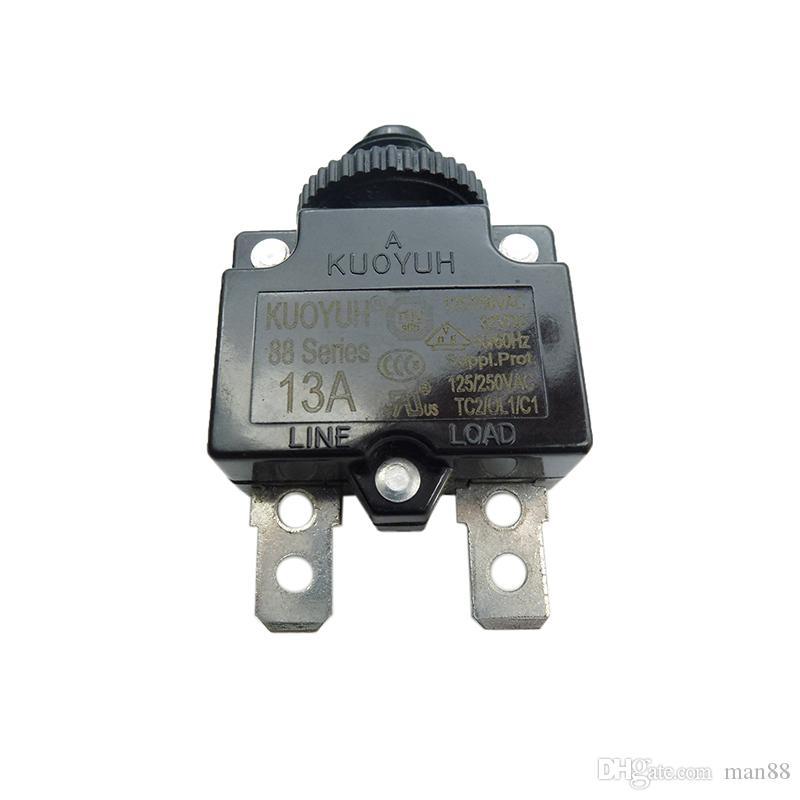 Taiwan KUOYUH Sobrecorrente Protetor Sobrecarregável Interruptor 88 Série 13A