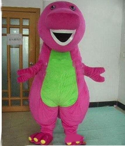 Best Barney Dinosaur Mascot Costume Cartoon Party Dress Adult